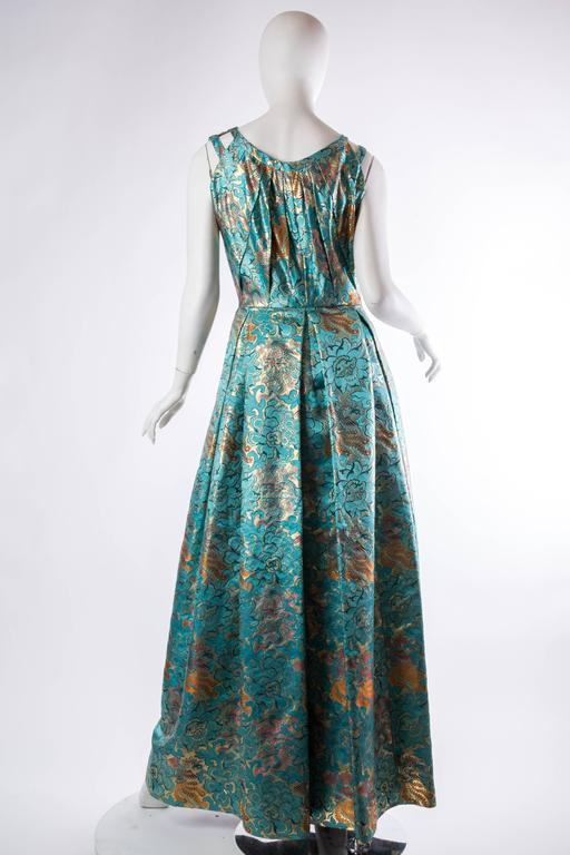 Reversible Gown Made from Chinese Silk For Sale 1