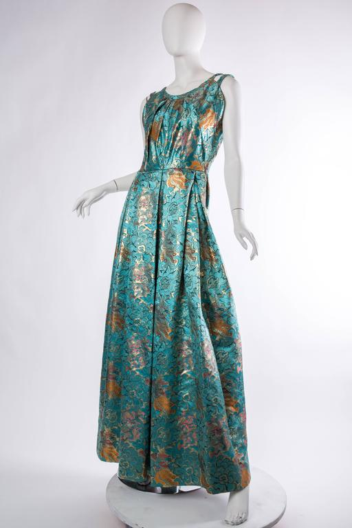 Reversible Gown Made from Chinese Silk In Excellent Condition For Sale In New York, NY