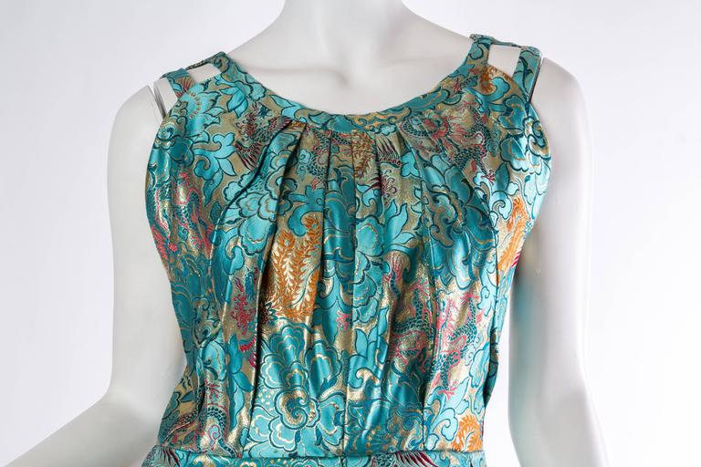 Reversible Gown Made from Chinese Silk For Sale 5