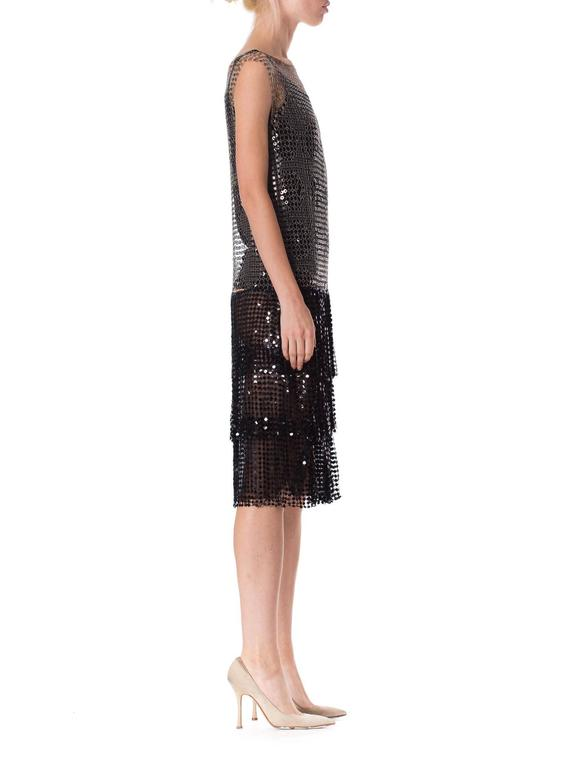 Spectacular 1920s Art Deco Sequin Net Dress In Excellent Condition For Sale In New York, NY