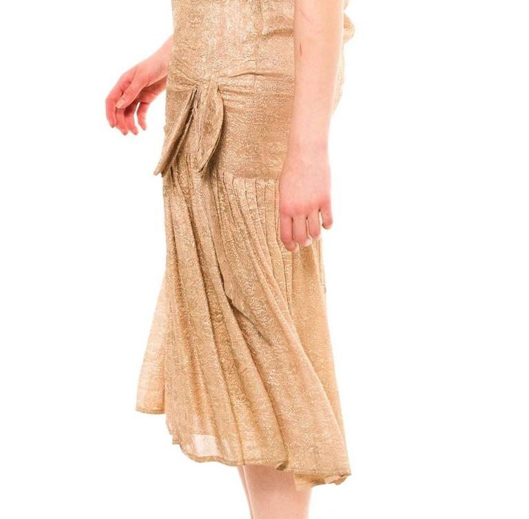 1920s Silk Lamé Dress 6