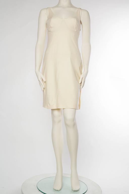 Gianni Versace Versus Stretch Cream Underwire Dress with Slit 2