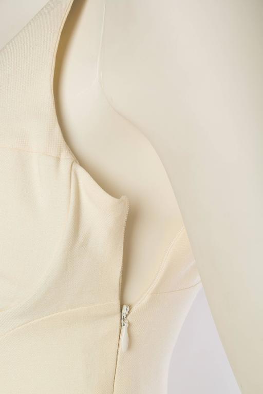 Gianni Versace Versus Stretch Cream Underwire Dress with Slit 6