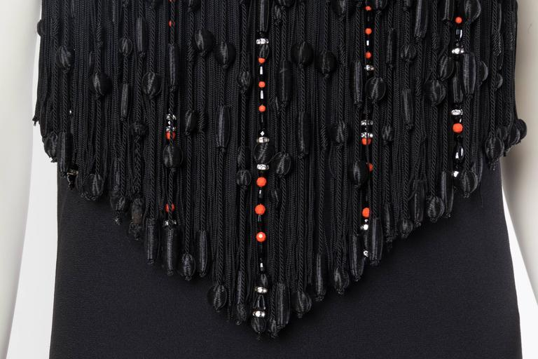 Valentino Crystal Beaded Fringed Gown For Sale 2