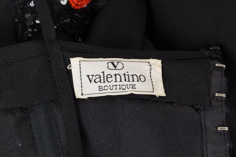 Valentino Crystal Beaded Fringed Gown For Sale 5