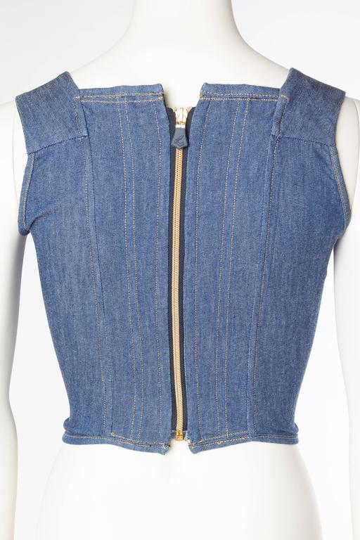 Vivienne Westwood Anglomania Denim Corset For Sale 1