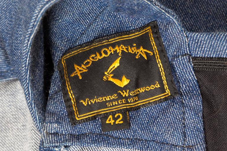 Vivienne Westwood Anglomania Denim Corset For Sale 5