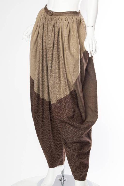 Brown 1982-4 Issey Miyake Ensemble For Sale