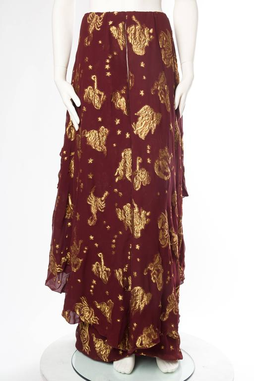Women's Jean Paul Gaultier Golden Astrology Skirt Dress For Sale
