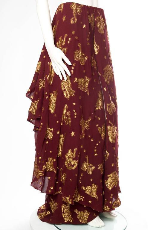 Jean Paul Gaultier Golden Astrology Skirt Dress For Sale 1