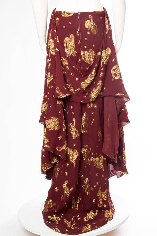 Jean Paul Gaultier Golden Astrology Skirt Dress For Sale 2