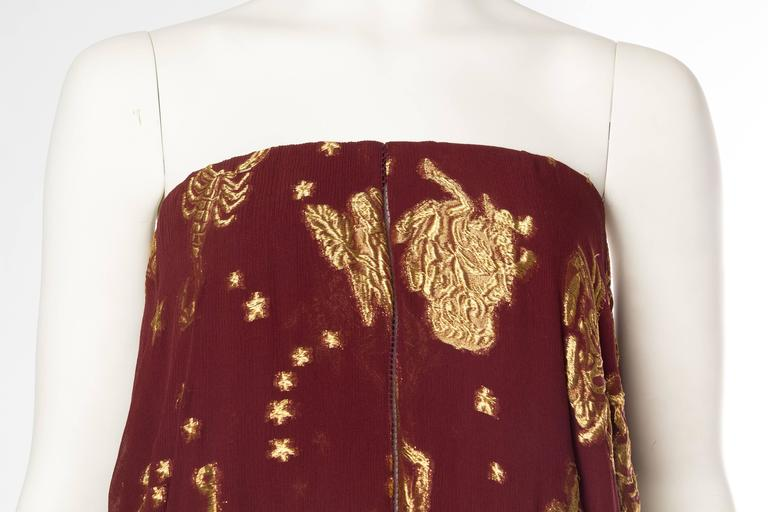 Jean Paul Gaultier Golden Astrology Skirt Dress In Excellent Condition For Sale In New York, NY
