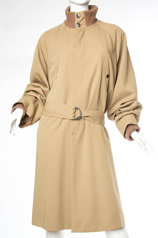 Beige Jean Paul Gaultier Unisex Collection Astrology Trenchcoat  For Sale