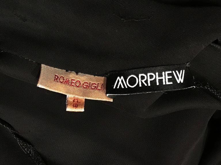 1990s Romeo Gigli Shirt Dress with an amazing sweep 10