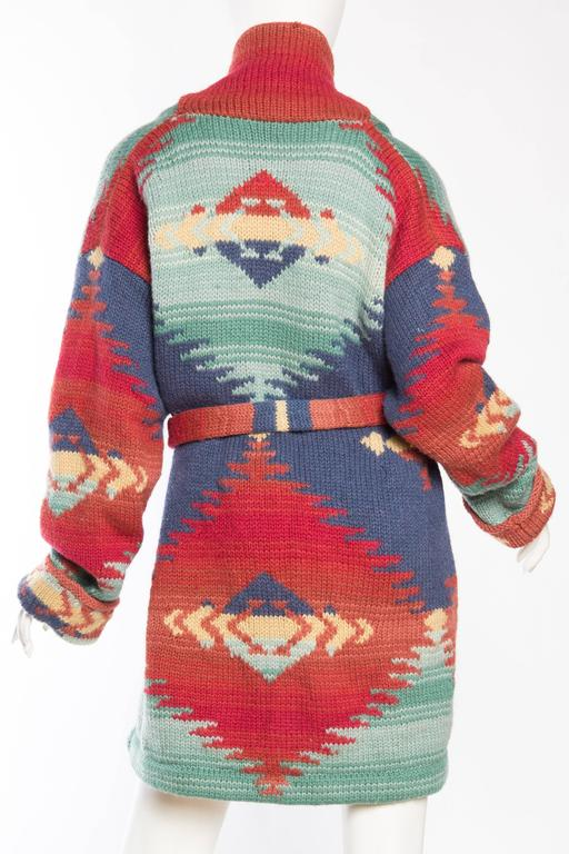 0ab373e4d Women s or Men s Ralph Lauren Hand-Knit native American Inspired Sweater  size L For Sale