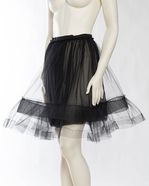 Lanvin Sheer Tulle and Chiffon Skirt 4