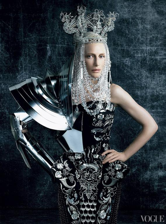 John Galliano for Christian Dior Dress with Chainmail For Sale 3