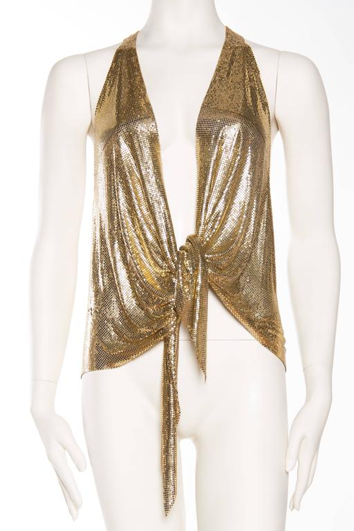 Slinky Gold Vest made from Vintage Whiting and Davis Metal Mesh