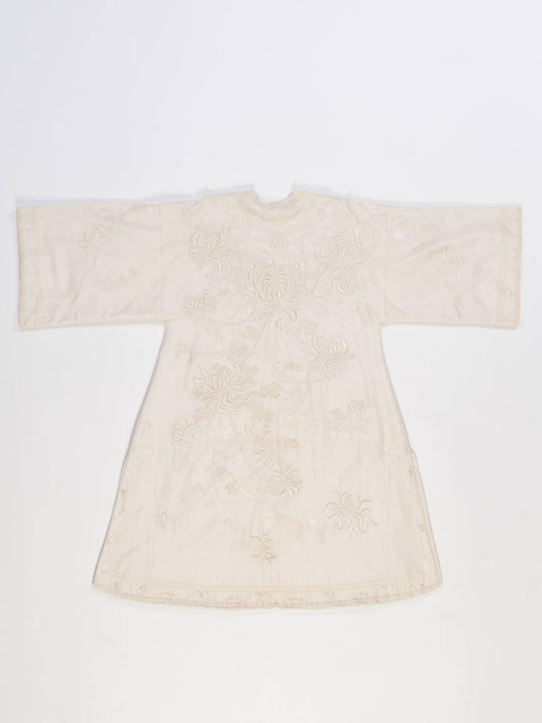 Antique Edwardian Hand Embroidered Chinese Jacket For Sale 7