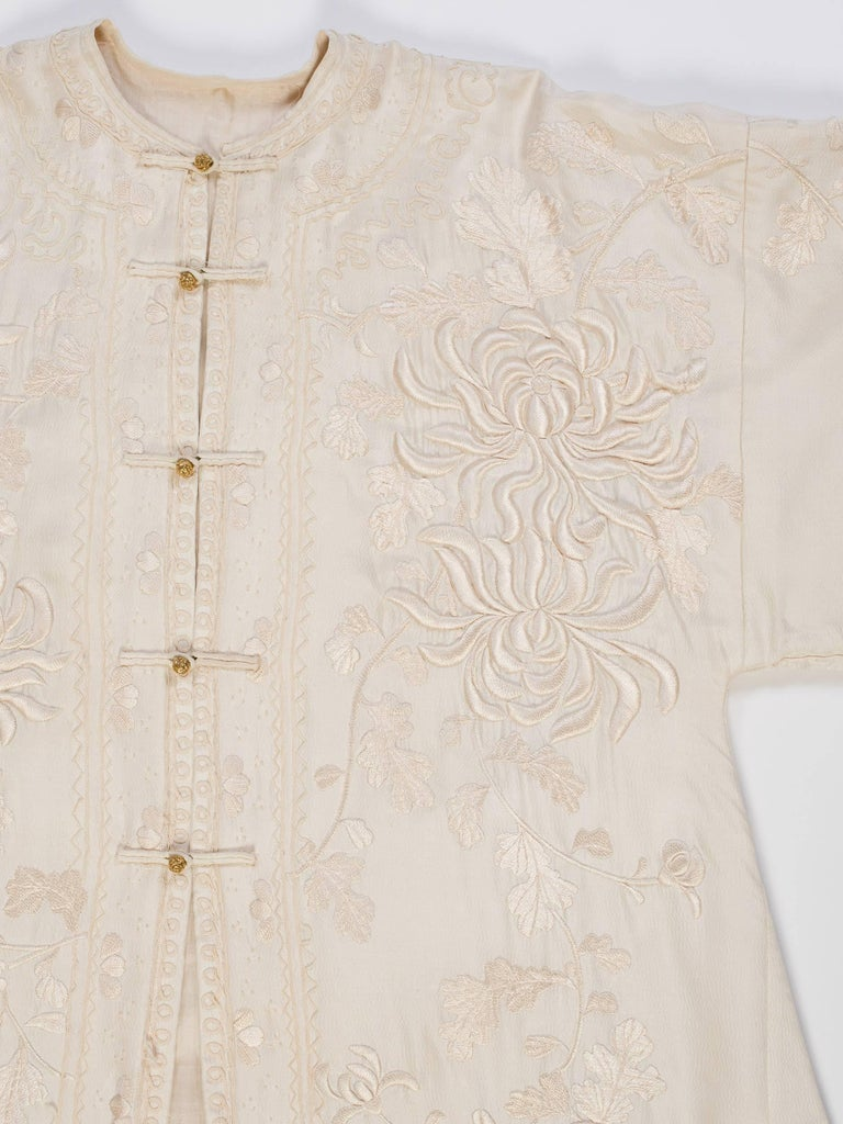 Antique Edwardian Hand Embroidered Chinese Jacket For Sale 8