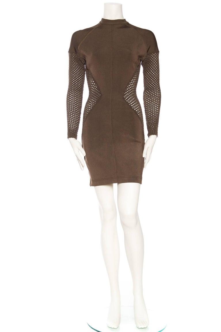 Black Sheer Net Alaia Dress For Sale