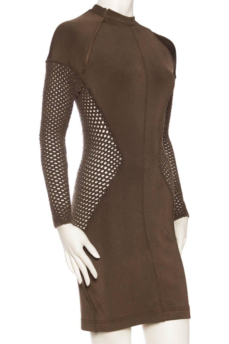 Sheer Net Alaia Dress In Good Condition For Sale In New York, NY