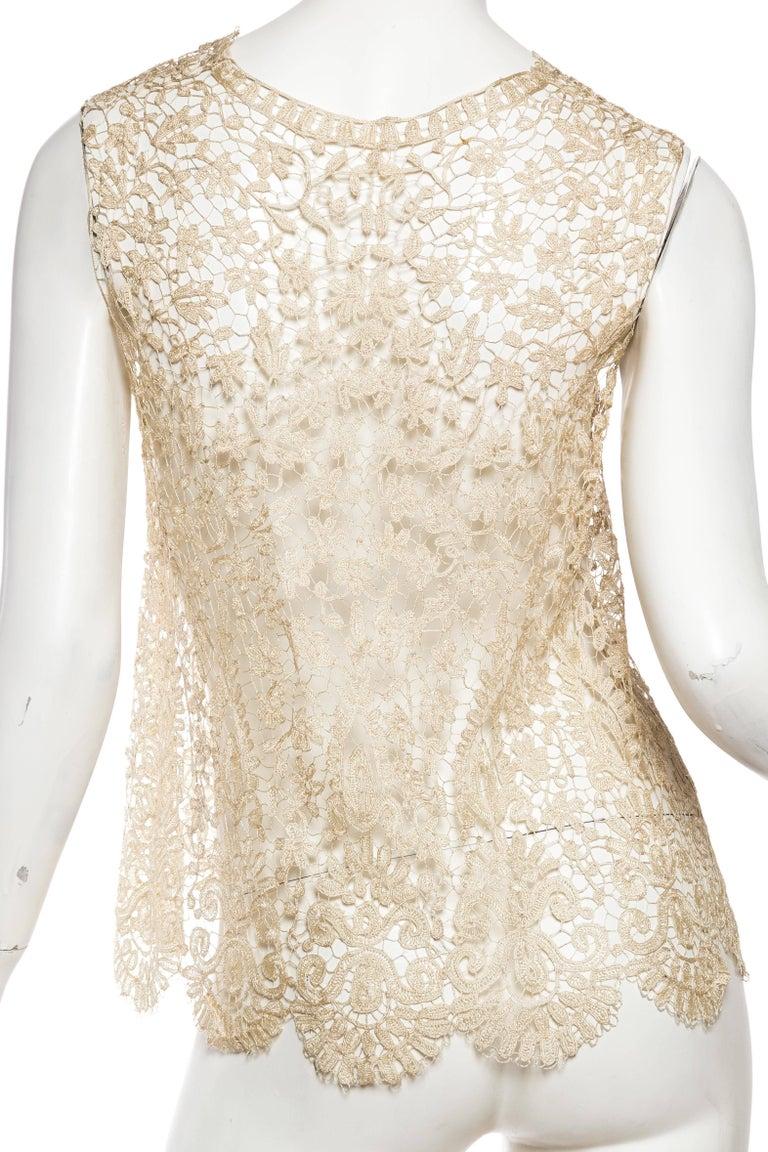 1920s Art Deco Handmade Lace Vest 6