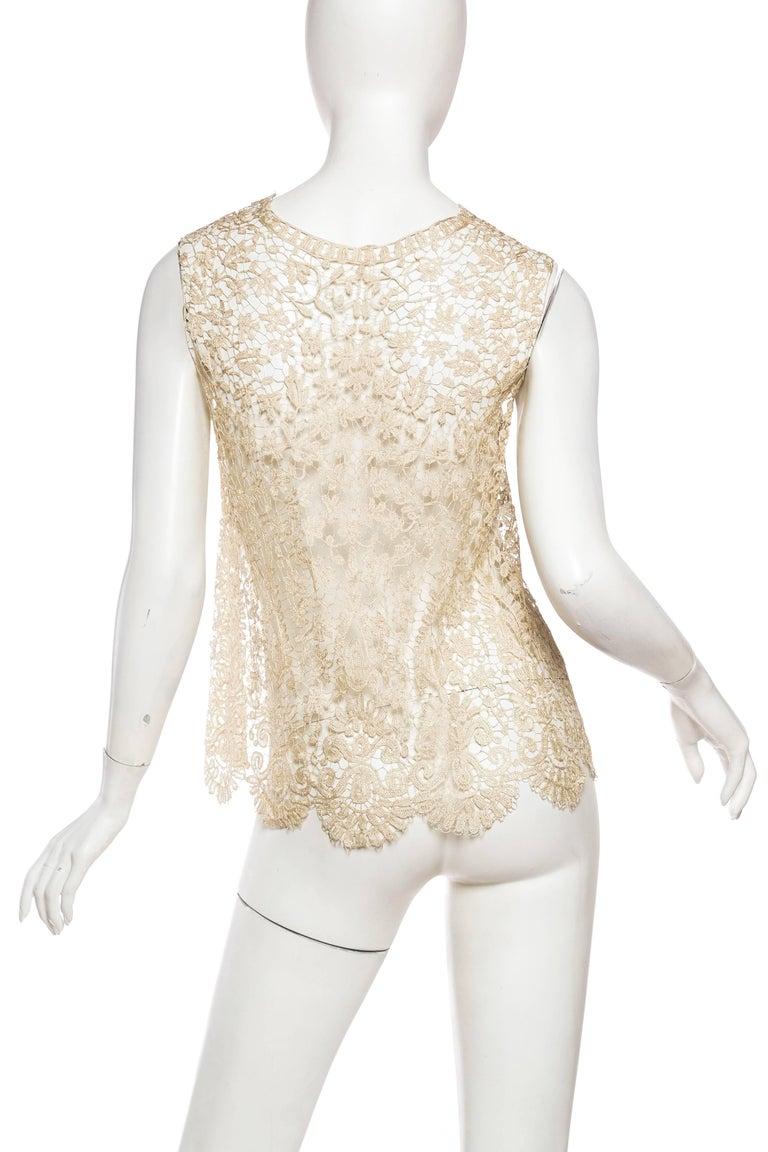 1920s Art Deco Handmade Lace Vest 5