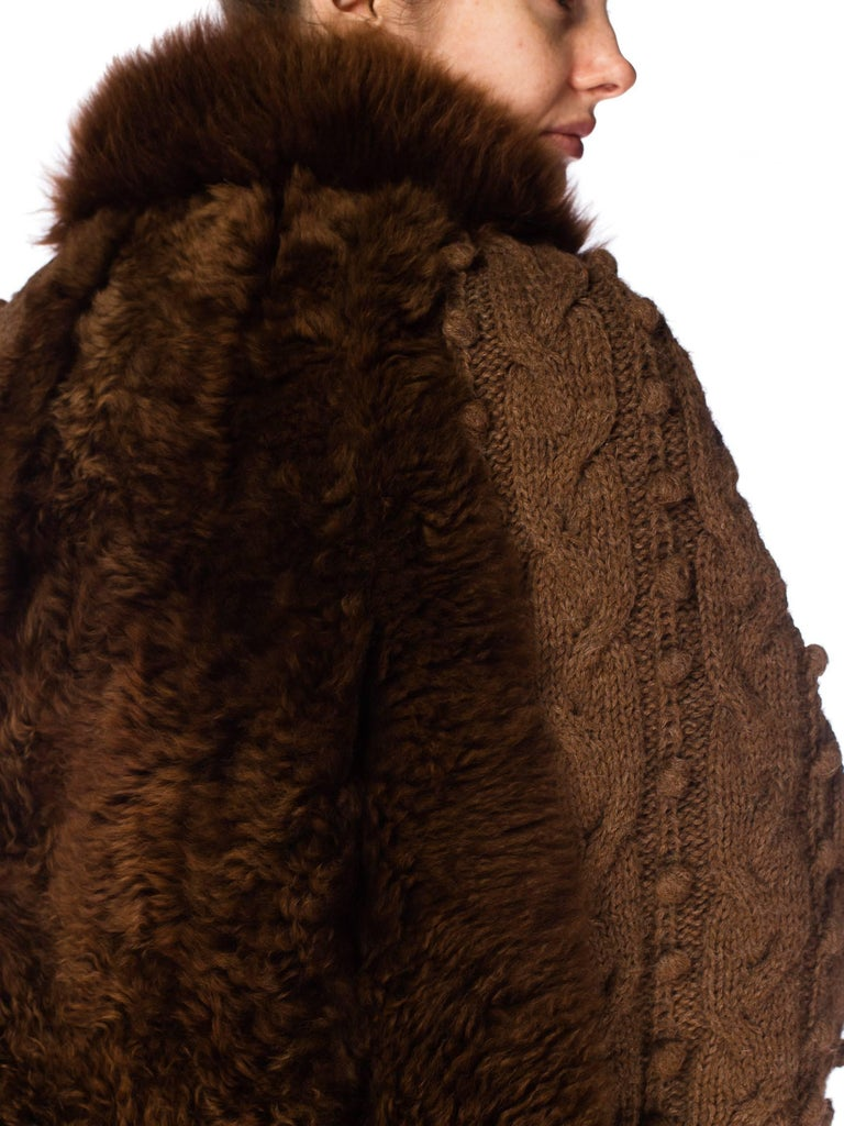 Dolman Knit and Fur Coat, 1980s  For Sale 5