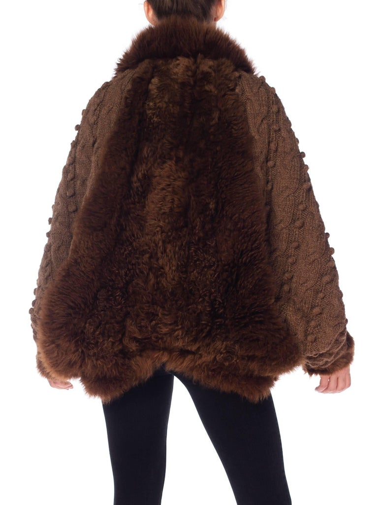 Dolman Knit and Fur Coat, 1980s  For Sale 4