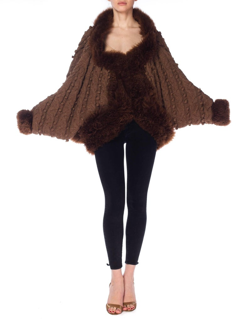 Dolman Knit and Fur Coat, 1980s  For Sale 2