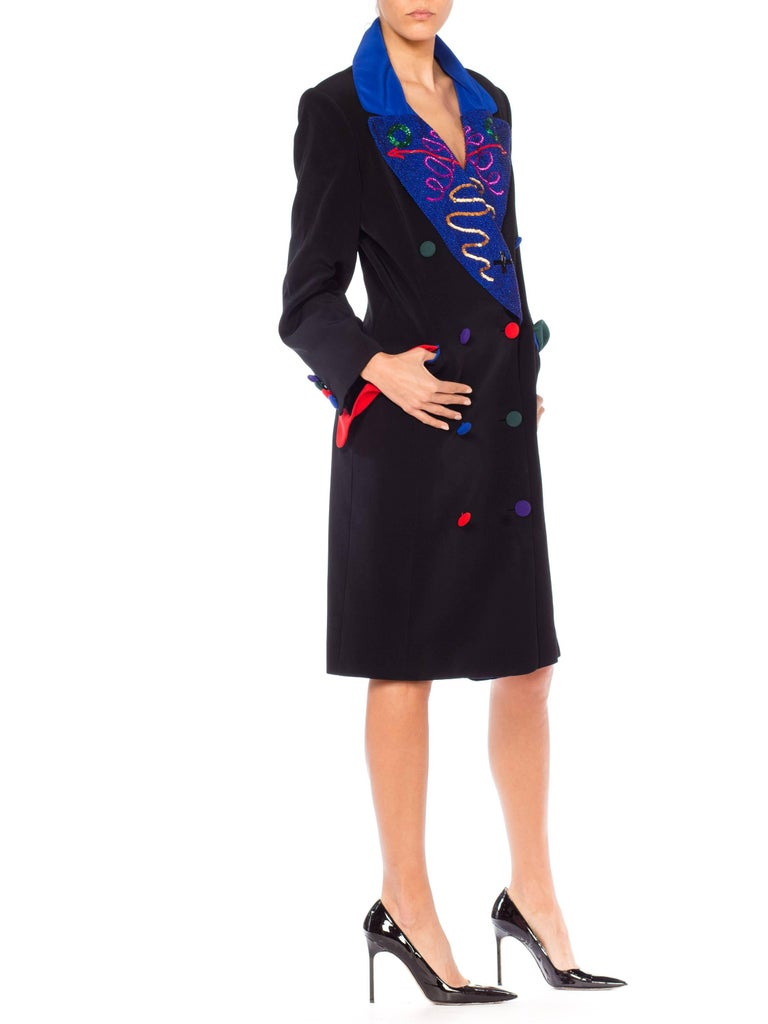 Fabrice Beaded Blazer Working Girl Dress, 1980s  For Sale 3