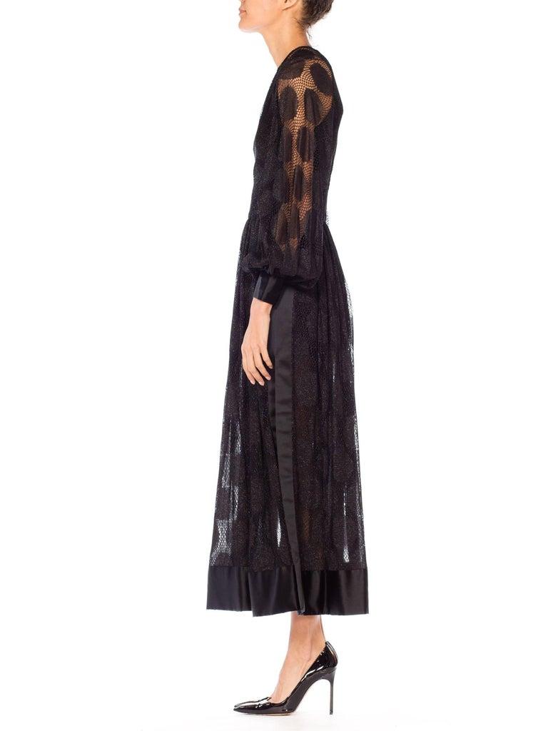James Galanos Sheer Metallic Mod Lace Dress, 1960s  For Sale 4