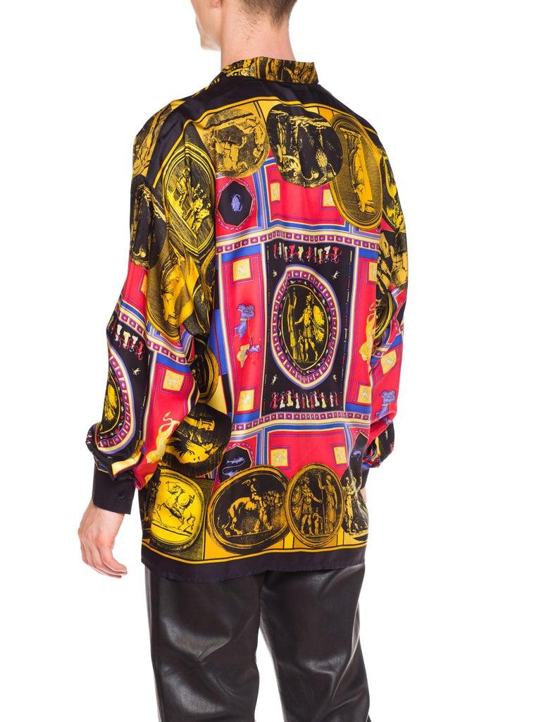 istante by versace Printed Julius Caesar Silk Shirt, 1990s  For Sale 3