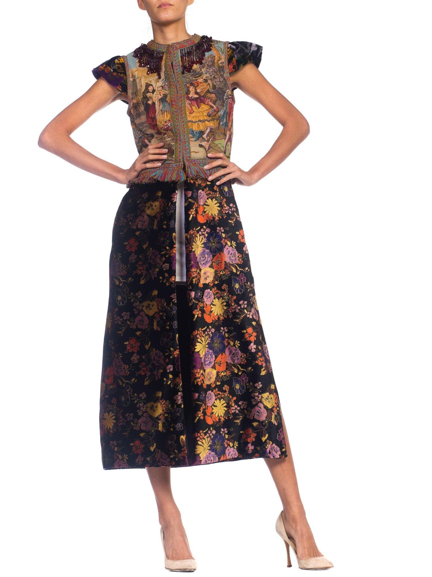 bb5f655c495 Morphew Duster Vest Dress In Velvet With Beaded Fringe For Sale at 1stdibs