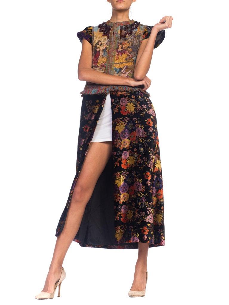 a37a198f59e Morphew Duster Vest Dress In Velvet With Beaded Fringe For Sale at ...