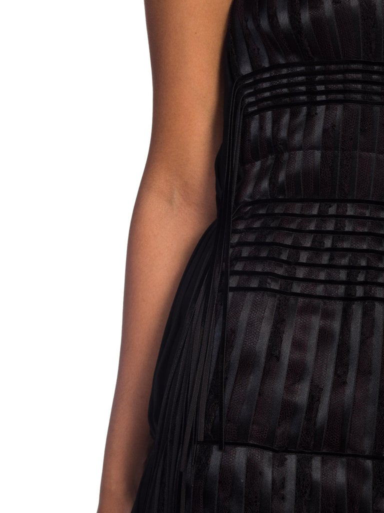 2003 Alber Elbaz Lanvin Pleated Lace Cocktail Dress Runway Sample For Sale 5