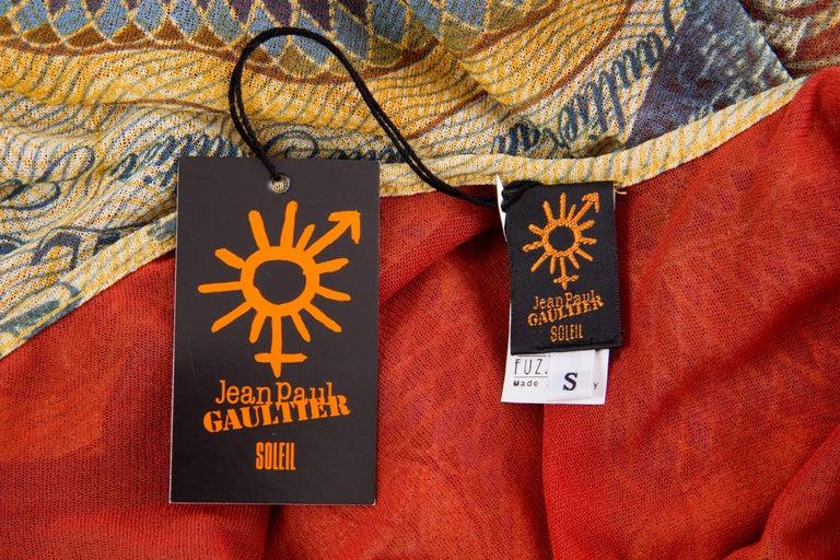 JPG Jean Paul Gaultier Amazing Money Printed Backless Dress For Sale 1