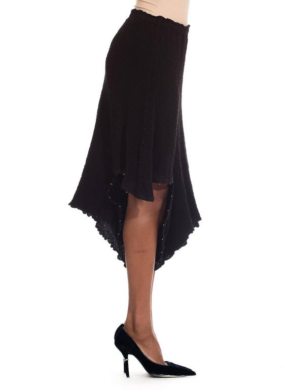 Black Asymmetrical Deconstructivist skirt from me by Issey Miyake For Sale