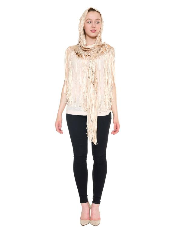 Women's Rayon Macrame Shawl Tunic Coverup For Sale
