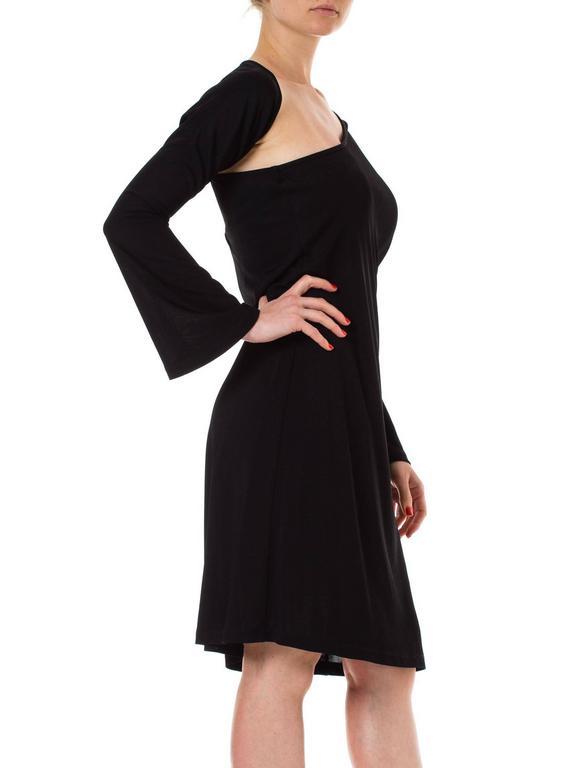 Black Jean Paul Gaultier Wraparound Sleeve Dress For Sale