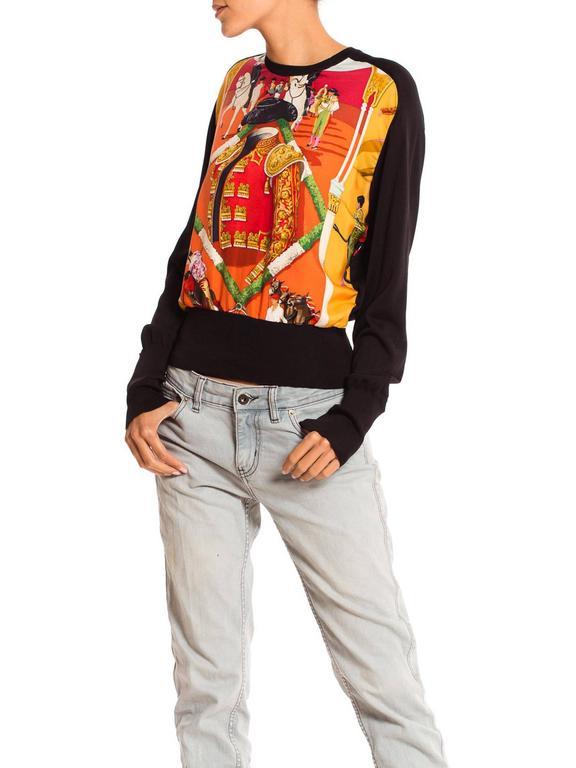 Women's Hermès Matador Scarf Print Pullover For Sale