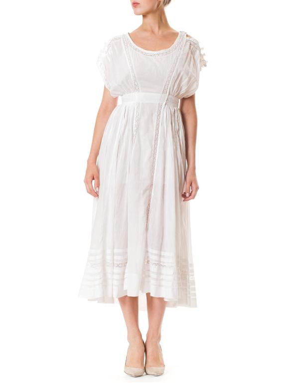 Edwardian Cotton Batiste and Lace Dress 3