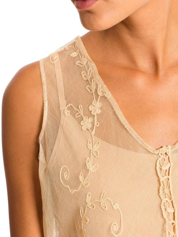 1920s Victorian Curtain Lace Dress For Sale 1