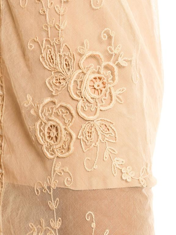 1920s Victorian Curtain Lace Dress For Sale 3