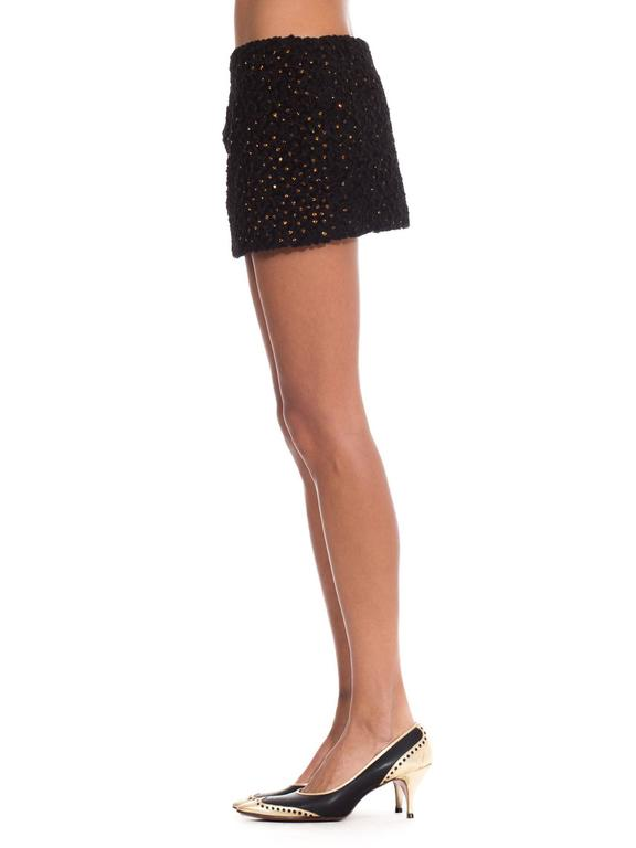 1990s Gianni Versace Couture Documented Swarovski Mini Skirt In Excellent Condition For Sale In New York, NY