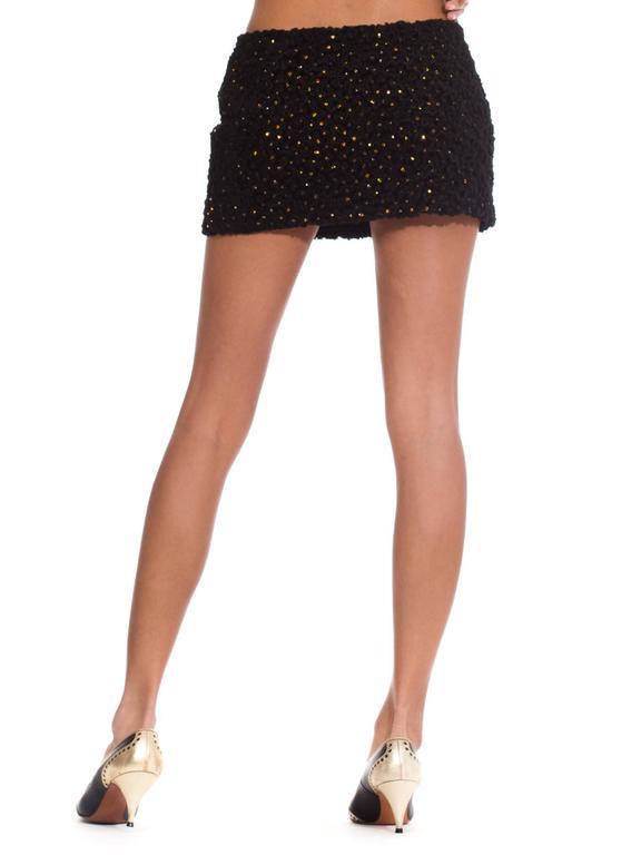 Women's 1990s Gianni Versace Couture Documented Swarovski Mini Skirt For Sale