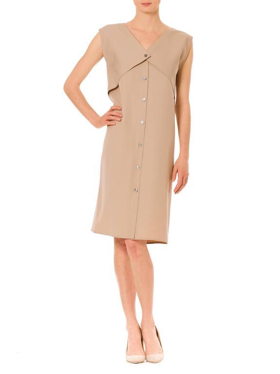 Beige Minimalist Geoffrey Beene Dress For Sale