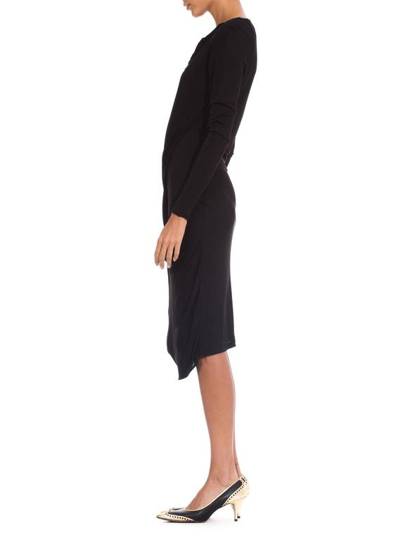 Martin Margiela Black Draped Jersey Dress 5