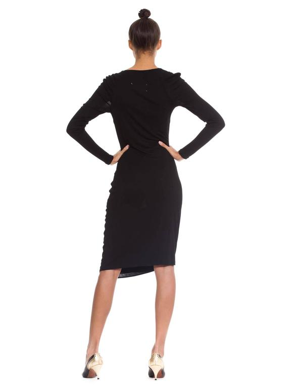 Martin Margiela Black Draped Jersey Dress 6